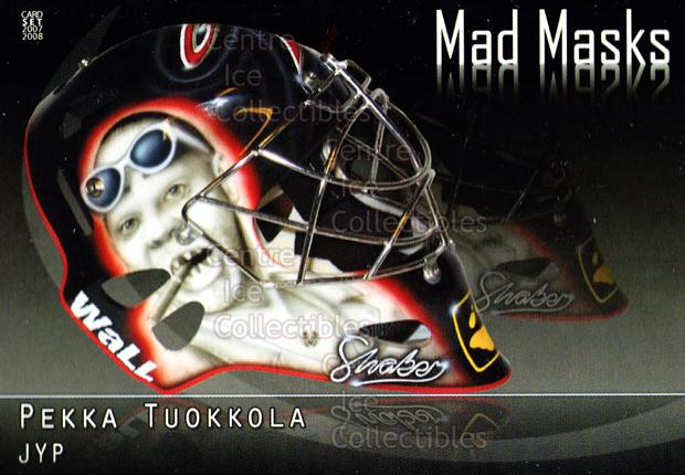2007-08 Finnish Cardset Mad Masks #7 Pekka Tuokkola<br/>2 In Stock - $3.00 each - <a href=https://centericecollectibles.foxycart.com/cart?name=2007-08%20Finnish%20Cardset%20Mad%20Masks%20%237%20Pekka%20Tuokkola...&price=$3.00&code=134563 class=foxycart> Buy it now! </a>