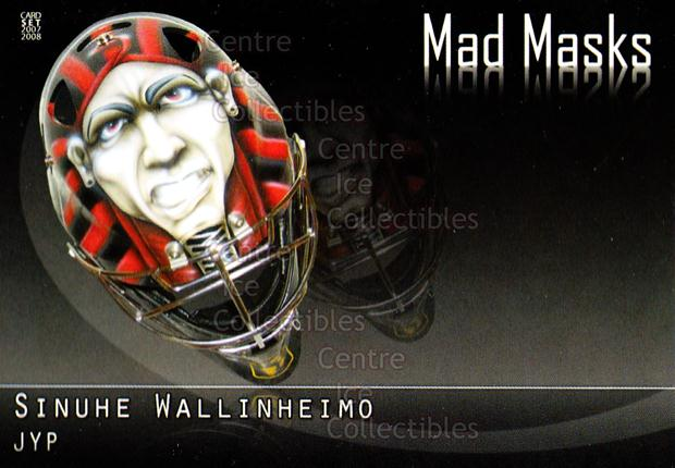 2007-08 Finnish Cardset Mad Masks #8 Sinuhe Wallinheimo<br/>2 In Stock - $3.00 each - <a href=https://centericecollectibles.foxycart.com/cart?name=2007-08%20Finnish%20Cardset%20Mad%20Masks%20%238%20Sinuhe%20Wallinhe...&quantity_max=2&price=$3.00&code=134564 class=foxycart> Buy it now! </a>