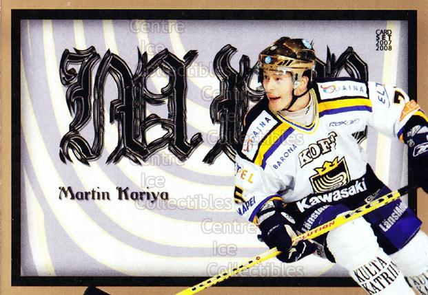 2007-08 Finnish Cardset MVP #1 Martin Kariya<br/>5 In Stock - $3.00 each - <a href=https://centericecollectibles.foxycart.com/cart?name=2007-08%20Finnish%20Cardset%20MVP%20%231%20Martin%20Kariya...&quantity_max=5&price=$3.00&code=134566 class=foxycart> Buy it now! </a>