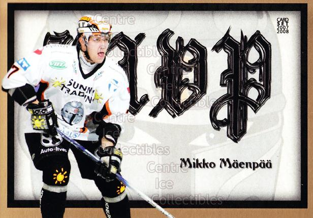 2007-08 Finnish Cardset MVP #3 Mikko Maenpaa<br/>10 In Stock - $3.00 each - <a href=https://centericecollectibles.foxycart.com/cart?name=2007-08%20Finnish%20Cardset%20MVP%20%233%20Mikko%20Maenpaa...&quantity_max=10&price=$3.00&code=134573 class=foxycart> Buy it now! </a>