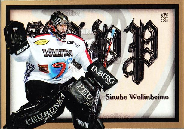2007-08 Finnish Cardset MVP #6 Sinuhe Wallinheimo<br/>3 In Stock - $3.00 each - <a href=https://centericecollectibles.foxycart.com/cart?name=2007-08%20Finnish%20Cardset%20MVP%20%236%20Sinuhe%20Wallinhe...&price=$3.00&code=134575 class=foxycart> Buy it now! </a>