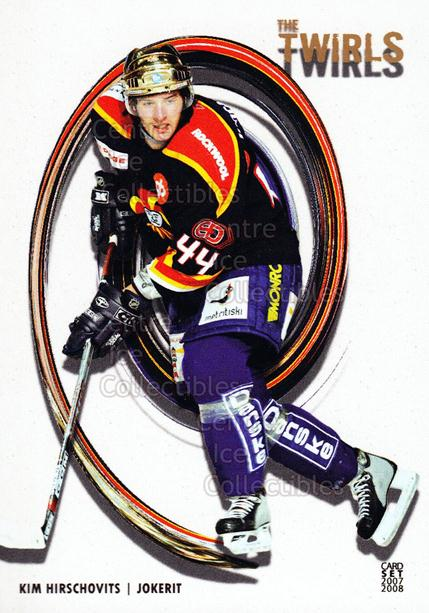 2007-08 Finnish Cardset Twirls #5 Kim Hirschovits<br/>10 In Stock - $3.00 each - <a href=https://centericecollectibles.foxycart.com/cart?name=2007-08%20Finnish%20Cardset%20Twirls%20%235%20Kim%20Hirschovits...&price=$3.00&code=134582 class=foxycart> Buy it now! </a>