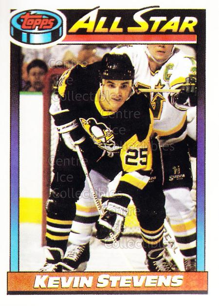 1991-92 Pittsburgh Penguins Foodland Stickers #11 Kevin Stevens<br/>3 In Stock - $3.00 each - <a href=https://centericecollectibles.foxycart.com/cart?name=1991-92%20Pittsburgh%20Penguins%20Foodland%20Stickers%20%2311%20Kevin%20Stevens...&quantity_max=3&price=$3.00&code=13470 class=foxycart> Buy it now! </a>