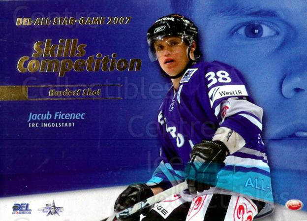 2007-08 German DEL Skills Competition #2 Jakub Ficenec<br/>2 In Stock - $3.00 each - <a href=https://centericecollectibles.foxycart.com/cart?name=2007-08%20German%20DEL%20Skills%20Competition%20%232%20Jakub%20Ficenec...&quantity_max=2&price=$3.00&code=134783 class=foxycart> Buy it now! </a>