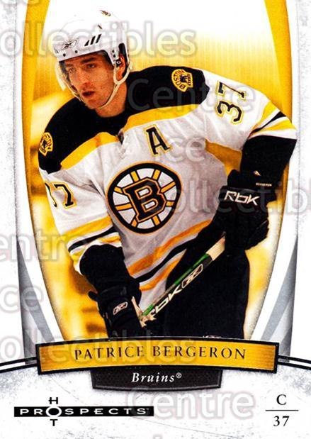2007-08 Hot Prospects #72 Patrice Bergeron<br/>7 In Stock - $2.00 each - <a href=https://centericecollectibles.foxycart.com/cart?name=2007-08%20Hot%20Prospects%20%2372%20Patrice%20Bergero...&quantity_max=7&price=$2.00&code=135010 class=foxycart> Buy it now! </a>