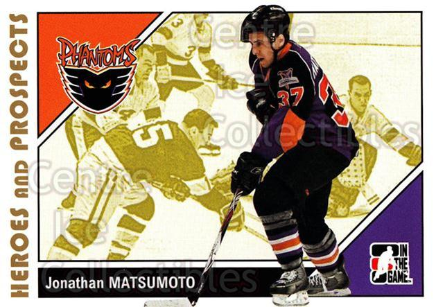 2007-08 ITG Heroes and Prospects #148 Jonathan Matsumoto<br/>18 In Stock - $1.00 each - <a href=https://centericecollectibles.foxycart.com/cart?name=2007-08%20ITG%20Heroes%20and%20Prospects%20%23148%20Jonathan%20Matsum...&price=$1.00&code=135049 class=foxycart> Buy it now! </a>