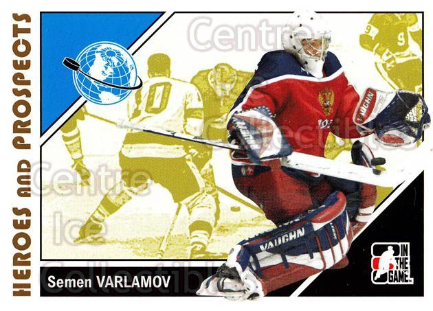 2007-08 ITG Heroes and Prospects #15 Simeon Varlamov<br/>21 In Stock - $1.00 each - <a href=https://centericecollectibles.foxycart.com/cart?name=2007-08%20ITG%20Heroes%20and%20Prospects%20%2315%20Simeon%20Varlamov...&price=$1.00&code=135050 class=foxycart> Buy it now! </a>