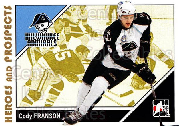 2007-08 ITG Heroes and Prospects #151 Cody Franson<br/>24 In Stock - $1.00 each - <a href=https://centericecollectibles.foxycart.com/cart?name=2007-08%20ITG%20Heroes%20and%20Prospects%20%23151%20Cody%20Franson...&price=$1.00&code=135052 class=foxycart> Buy it now! </a>