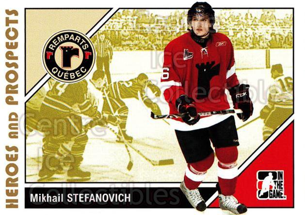 2007-08 ITG Heroes and Prospects #162 Mikhail Stefanovich<br/>19 In Stock - $1.00 each - <a href=https://centericecollectibles.foxycart.com/cart?name=2007-08%20ITG%20Heroes%20and%20Prospects%20%23162%20Mikhail%20Stefano...&price=$1.00&code=135063 class=foxycart> Buy it now! </a>