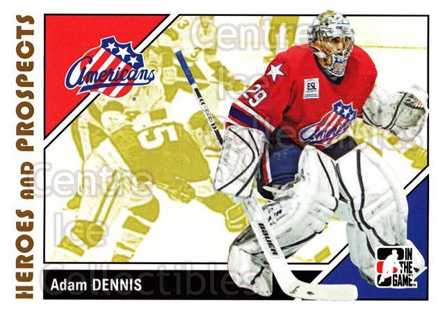 2007-08 ITG Heroes and Prospects #17 Adam Dennis<br/>18 In Stock - $1.00 each - <a href=https://centericecollectibles.foxycart.com/cart?name=2007-08%20ITG%20Heroes%20and%20Prospects%20%2317%20Adam%20Dennis...&price=$1.00&code=135071 class=foxycart> Buy it now! </a>