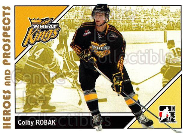 2007-08 ITG Heroes and Prospects #172 Colby Robak<br/>24 In Stock - $1.00 each - <a href=https://centericecollectibles.foxycart.com/cart?name=2007-08%20ITG%20Heroes%20and%20Prospects%20%23172%20Colby%20Robak...&price=$1.00&code=135074 class=foxycart> Buy it now! </a>