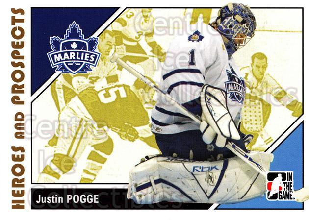2007-08 ITG Heroes and Prospects #19 Justin Pogge<br/>20 In Stock - $1.00 each - <a href=https://centericecollectibles.foxycart.com/cart?name=2007-08%20ITG%20Heroes%20and%20Prospects%20%2319%20Justin%20Pogge...&price=$1.00&code=135088 class=foxycart> Buy it now! </a>