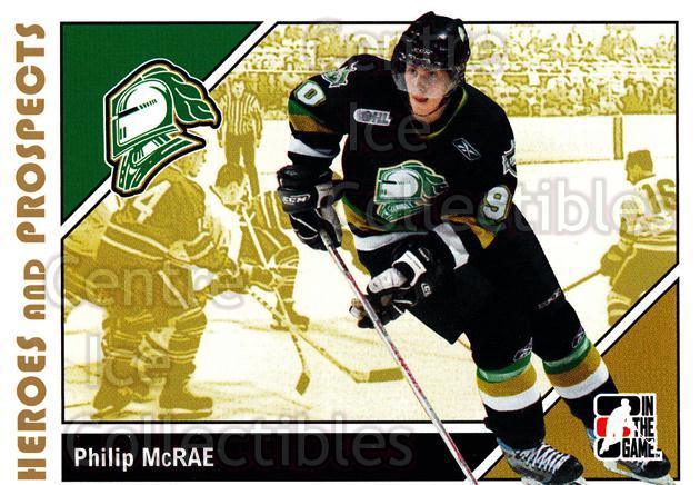 2007-08 ITG Heroes and Prospects #190 Philip McRae<br/>16 In Stock - $1.00 each - <a href=https://centericecollectibles.foxycart.com/cart?name=2007-08%20ITG%20Heroes%20and%20Prospects%20%23190%20Philip%20McRae...&price=$1.00&code=135089 class=foxycart> Buy it now! </a>