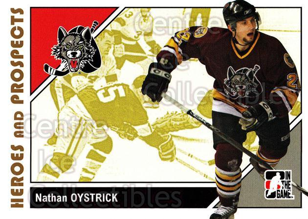 2007-08 ITG Heroes and Prospects #20 Nathan Oystrick<br/>20 In Stock - $1.00 each - <a href=https://centericecollectibles.foxycart.com/cart?name=2007-08%20ITG%20Heroes%20and%20Prospects%20%2320%20Nathan%20Oystrick...&price=$1.00&code=135091 class=foxycart> Buy it now! </a>