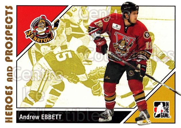2007-08 ITG Heroes and Prospects #22 Andrew Ebbett<br/>20 In Stock - $1.00 each - <a href=https://centericecollectibles.foxycart.com/cart?name=2007-08%20ITG%20Heroes%20and%20Prospects%20%2322%20Andrew%20Ebbett...&price=$1.00&code=135093 class=foxycart> Buy it now! </a>
