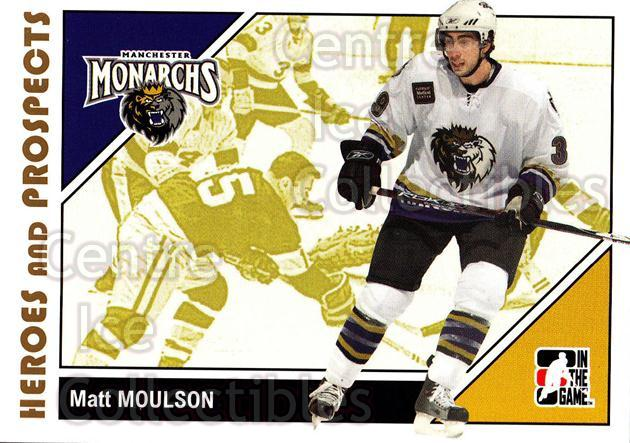 2007-08 ITG Heroes and Prospects #23 Matt Moulson<br/>22 In Stock - $1.00 each - <a href=https://centericecollectibles.foxycart.com/cart?name=2007-08%20ITG%20Heroes%20and%20Prospects%20%2323%20Matt%20Moulson...&price=$1.00&code=135094 class=foxycart> Buy it now! </a>