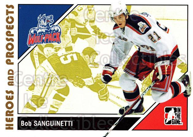 2007-08 ITG Heroes and Prospects #29 Bob Sanguinetti<br/>20 In Stock - $1.00 each - <a href=https://centericecollectibles.foxycart.com/cart?name=2007-08%20ITG%20Heroes%20and%20Prospects%20%2329%20Bob%20Sanguinetti...&price=$1.00&code=135099 class=foxycart> Buy it now! </a>