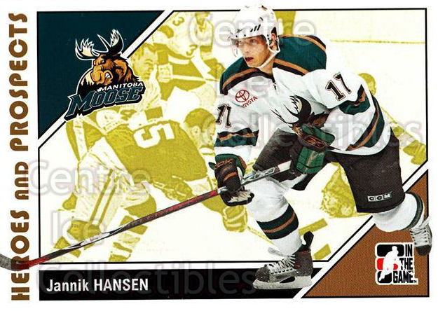 2007-08 ITG Heroes and Prospects #33 Jannik Hansen<br/>21 In Stock - $1.00 each - <a href=https://centericecollectibles.foxycart.com/cart?name=2007-08%20ITG%20Heroes%20and%20Prospects%20%2333%20Jannik%20Hansen...&price=$1.00&code=135104 class=foxycart> Buy it now! </a>