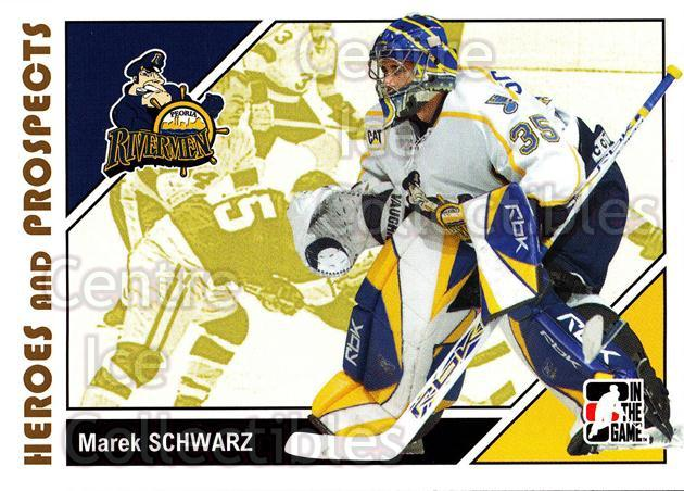 2007-08 ITG Heroes and Prospects #35 Marek Schwarz<br/>18 In Stock - $1.00 each - <a href=https://centericecollectibles.foxycart.com/cart?name=2007-08%20ITG%20Heroes%20and%20Prospects%20%2335%20Marek%20Schwarz...&price=$1.00&code=135106 class=foxycart> Buy it now! </a>