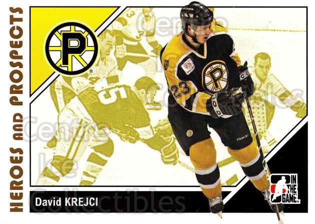 2007-08 ITG Heroes and Prospects #37 David Krejci<br/>22 In Stock - $1.00 each - <a href=https://centericecollectibles.foxycart.com/cart?name=2007-08%20ITG%20Heroes%20and%20Prospects%20%2337%20David%20Krejci...&price=$1.00&code=135108 class=foxycart> Buy it now! </a>