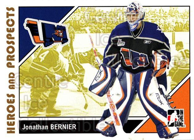 2007-08 ITG Heroes and Prospects #51 Jonathan Bernier<br/>22 In Stock - $1.00 each - <a href=https://centericecollectibles.foxycart.com/cart?name=2007-08%20ITG%20Heroes%20and%20Prospects%20%2351%20Jonathan%20Bernie...&price=$1.00&code=135124 class=foxycart> Buy it now! </a>
