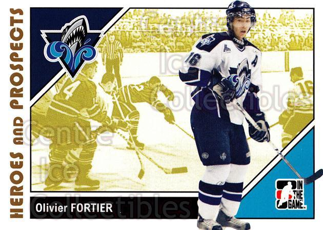 2007-08 ITG Heroes and Prospects #52 Olivier Fortier<br/>20 In Stock - $1.00 each - <a href=https://centericecollectibles.foxycart.com/cart?name=2007-08%20ITG%20Heroes%20and%20Prospects%20%2352%20Olivier%20Fortier...&price=$1.00&code=135125 class=foxycart> Buy it now! </a>