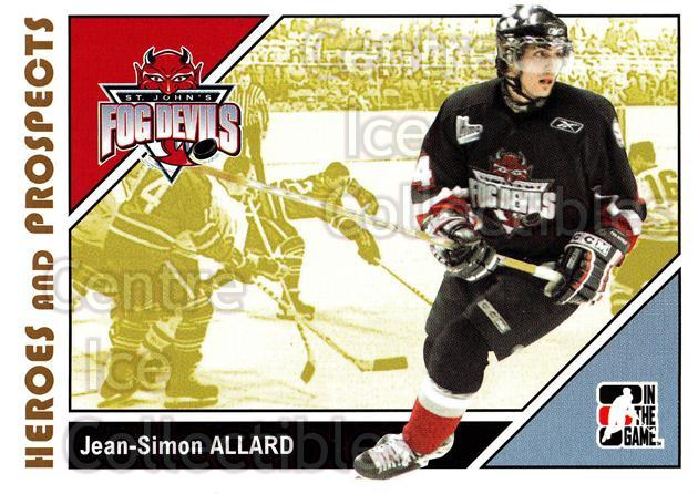 2007-08 ITG Heroes and Prospects #53 Jean-Simon Allard<br/>22 In Stock - $1.00 each - <a href=https://centericecollectibles.foxycart.com/cart?name=2007-08%20ITG%20Heroes%20and%20Prospects%20%2353%20Jean-Simon%20Alla...&price=$1.00&code=135126 class=foxycart> Buy it now! </a>