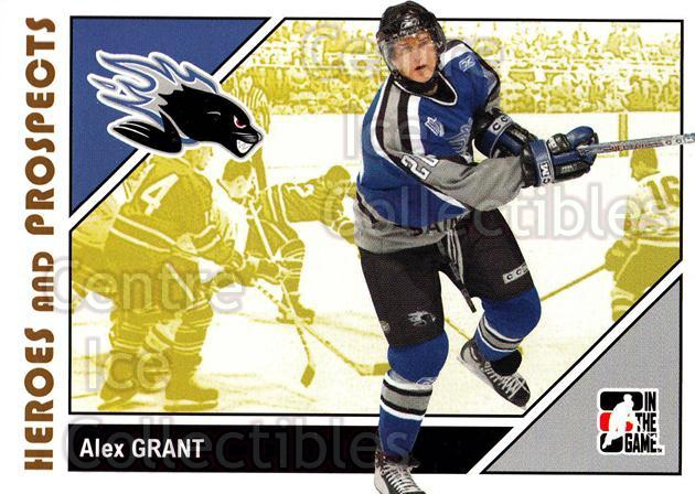 2007-08 ITG Heroes and Prospects #55 Alex Grant<br/>21 In Stock - $1.00 each - <a href=https://centericecollectibles.foxycart.com/cart?name=2007-08%20ITG%20Heroes%20and%20Prospects%20%2355%20Alex%20Grant...&price=$1.00&code=135128 class=foxycart> Buy it now! </a>