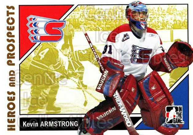 2007-08 ITG Heroes and Prospects #56 Kevin Armstrong<br/>22 In Stock - $1.00 each - <a href=https://centericecollectibles.foxycart.com/cart?name=2007-08%20ITG%20Heroes%20and%20Prospects%20%2356%20Kevin%20Armstrong...&price=$1.00&code=135129 class=foxycart> Buy it now! </a>