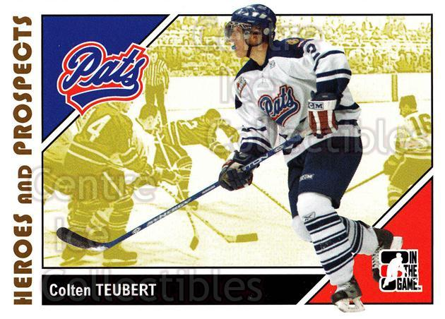2007-08 ITG Heroes and Prospects #57 Colten Teubert<br/>19 In Stock - $1.00 each - <a href=https://centericecollectibles.foxycart.com/cart?name=2007-08%20ITG%20Heroes%20and%20Prospects%20%2357%20Colten%20Teubert...&price=$1.00&code=135130 class=foxycart> Buy it now! </a>