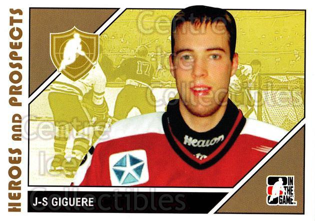 2007-08 ITG Heroes and Prospects #6 Jean-Sebastien Giguere<br/>22 In Stock - $1.00 each - <a href=https://centericecollectibles.foxycart.com/cart?name=2007-08%20ITG%20Heroes%20and%20Prospects%20%236%20Jean-Sebastien%20...&price=$1.00&code=135133 class=foxycart> Buy it now! </a>