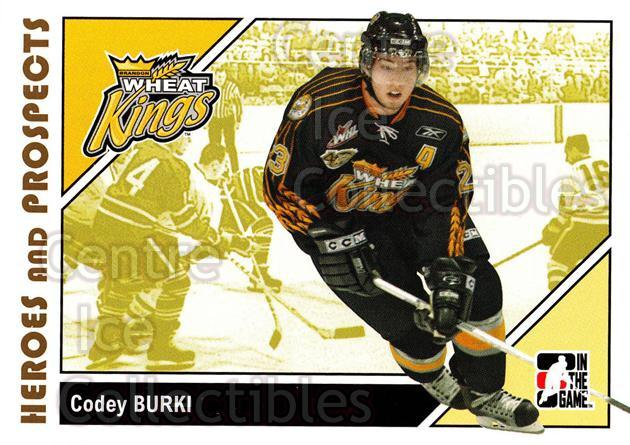 2007-08 ITG Heroes and Prospects #60 Codey Burki<br/>21 In Stock - $1.00 each - <a href=https://centericecollectibles.foxycart.com/cart?name=2007-08%20ITG%20Heroes%20and%20Prospects%20%2360%20Codey%20Burki...&price=$1.00&code=135134 class=foxycart> Buy it now! </a>