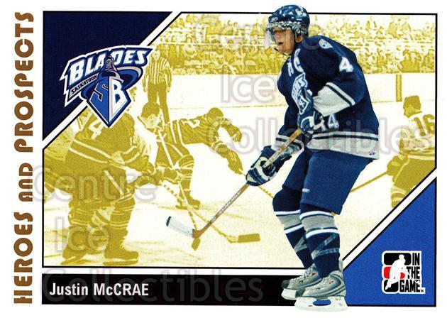 2007-08 ITG Heroes and Prospects #67 Justin McCrae<br/>21 In Stock - $1.00 each - <a href=https://centericecollectibles.foxycart.com/cart?name=2007-08%20ITG%20Heroes%20and%20Prospects%20%2367%20Justin%20McCrae...&price=$1.00&code=135141 class=foxycart> Buy it now! </a>