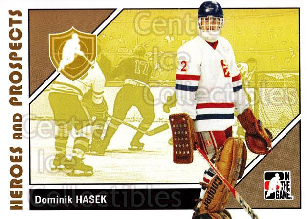 2007-08 ITG Heroes and Prospects #7 Dominik Hasek<br/>19 In Stock - $1.00 each - <a href=https://centericecollectibles.foxycart.com/cart?name=2007-08%20ITG%20Heroes%20and%20Prospects%20%237%20Dominik%20Hasek...&price=$1.00&code=135144 class=foxycart> Buy it now! </a>
