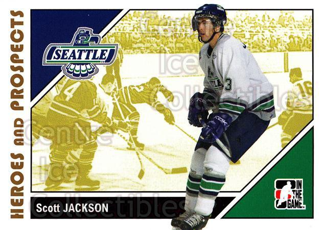 2007-08 ITG Heroes and Prospects #71 Scott Jackson<br/>20 In Stock - $1.00 each - <a href=https://centericecollectibles.foxycart.com/cart?name=2007-08%20ITG%20Heroes%20and%20Prospects%20%2371%20Scott%20Jackson...&price=$1.00&code=135146 class=foxycart> Buy it now! </a>