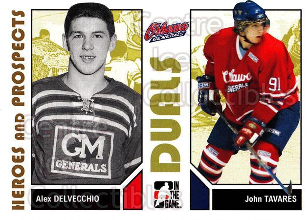 2007-08 ITG Heroes and Prospects #93 Alex Delvecchio, John Tavares<br/>23 In Stock - $1.00 each - <a href=https://centericecollectibles.foxycart.com/cart?name=2007-08%20ITG%20Heroes%20and%20Prospects%20%2393%20Alex%20Delvecchio...&price=$1.00&code=135168 class=foxycart> Buy it now! </a>