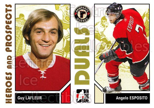 2007-08 ITG Heroes and Prospects #94 Guy Lafleur, Angelo Esposito<br/>20 In Stock - $1.00 each - <a href=https://centericecollectibles.foxycart.com/cart?name=2007-08%20ITG%20Heroes%20and%20Prospects%20%2394%20Guy%20Lafleur,%20An...&price=$1.00&code=135169 class=foxycart> Buy it now! </a>