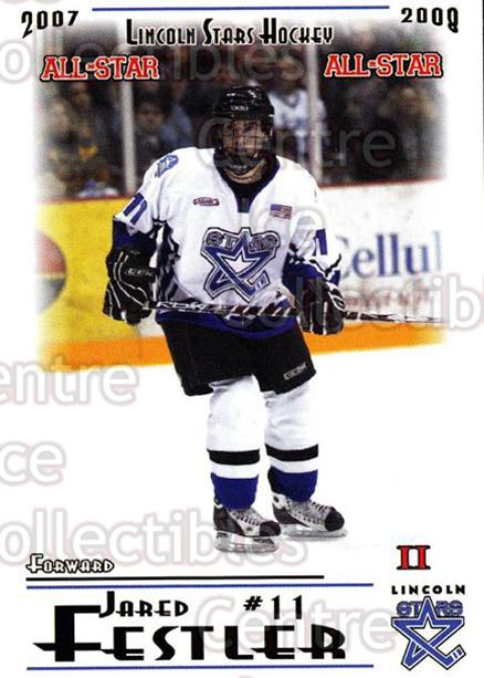 2007-08 Lincoln Stars #54 Jared Festler<br/>4 In Stock - $3.00 each - <a href=https://centericecollectibles.foxycart.com/cart?name=2007-08%20Lincoln%20Stars%20%2354%20Jared%20Festler...&quantity_max=4&price=$3.00&code=135336 class=foxycart> Buy it now! </a>