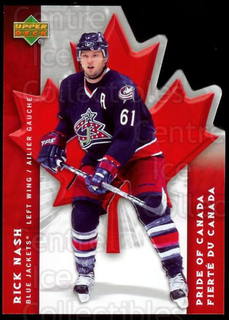2007-08 McDonalds Upper Deck Pride of Canada #2 Rick Nash<br/>15 In Stock - $3.00 each - <a href=https://centericecollectibles.foxycart.com/cart?name=2007-08%20McDonalds%20Upper%20Deck%20Pride%20of%20Canada%20%232%20Rick%20Nash...&quantity_max=15&price=$3.00&code=135373 class=foxycart> Buy it now! </a>