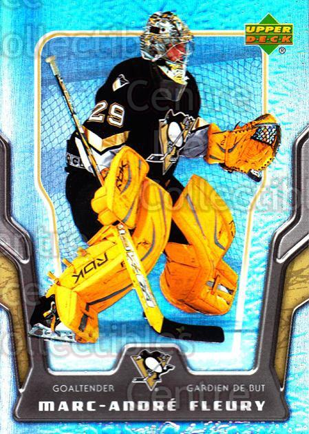 2007-08 McDonalds Upper Deck #13 Marc-Andre Fleury<br/>3 In Stock - $2.00 each - <a href=https://centericecollectibles.foxycart.com/cart?name=2007-08%20McDonalds%20Upper%20Deck%20%2313%20Marc-Andre%20Fleu...&quantity_max=3&price=$2.00&code=135388 class=foxycart> Buy it now! </a>