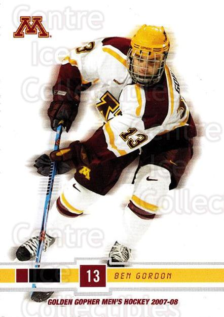 2007-08 Minnesota Golden Gophers #11 Ben Gordon<br/>4 In Stock - $3.00 each - <a href=https://centericecollectibles.foxycart.com/cart?name=2007-08%20Minnesota%20Golden%20Gophers%20%2311%20Ben%20Gordon...&quantity_max=4&price=$3.00&code=135429 class=foxycart> Buy it now! </a>