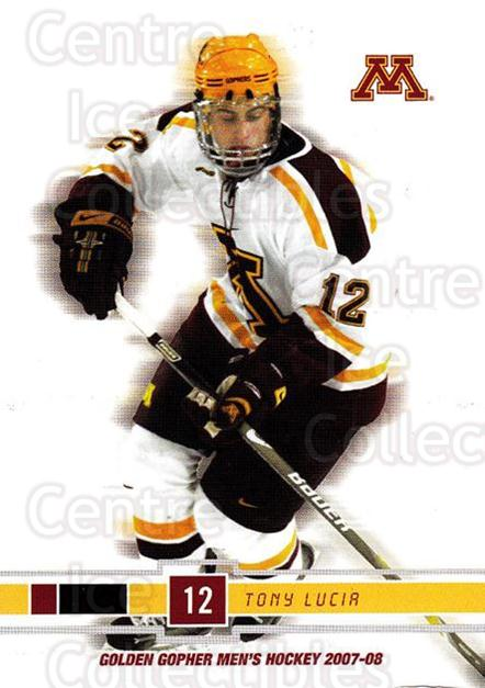 2007-08 Minnesota Golden Gophers #16 Tony Lucia<br/>4 In Stock - $3.00 each - <a href=https://centericecollectibles.foxycart.com/cart?name=2007-08%20Minnesota%20Golden%20Gophers%20%2316%20Tony%20Lucia...&quantity_max=4&price=$3.00&code=135434 class=foxycart> Buy it now! </a>