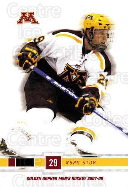 2007-08 Minnesota Golden Gophers #21 Ryan Stor<br/>4 In Stock - $3.00 each - <a href=https://centericecollectibles.foxycart.com/cart?name=2007-08%20Minnesota%20Golden%20Gophers%20%2321%20Ryan%20Stor...&quantity_max=4&price=$3.00&code=135440 class=foxycart> Buy it now! </a>