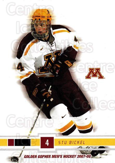2007-08 Minnesota Golden Gophers #3 Stu Bickel<br/>1 In Stock - $3.00 each - <a href=https://centericecollectibles.foxycart.com/cart?name=2007-08%20Minnesota%20Golden%20Gophers%20%233%20Stu%20Bickel...&quantity_max=1&price=$3.00&code=135444 class=foxycart> Buy it now! </a>