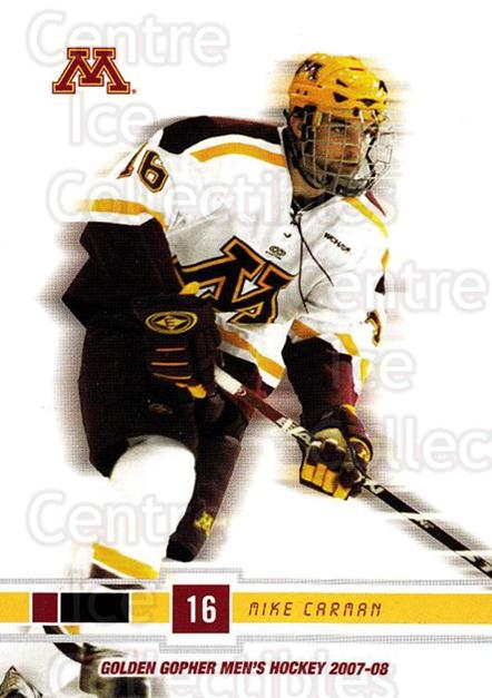 2007-08 Minnesota Golden Gophers #5 Mike Carman<br/>1 In Stock - $3.00 each - <a href=https://centericecollectibles.foxycart.com/cart?name=2007-08%20Minnesota%20Golden%20Gophers%20%235%20Mike%20Carman...&quantity_max=1&price=$3.00&code=135446 class=foxycart> Buy it now! </a>