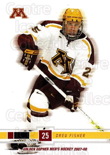 2007-08 Minnesota Golden Gophers #8 Drew Fisher<br/>4 In Stock - $3.00 each - <a href=https://centericecollectibles.foxycart.com/cart?name=2007-08%20Minnesota%20Golden%20Gophers%20%238%20Drew%20Fisher...&quantity_max=4&price=$3.00&code=135449 class=foxycart> Buy it now! </a>