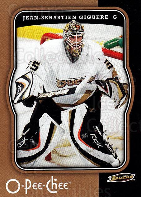 2007-08 O-Pee-Chee #1 Jean-Sebastien Giguere<br/>4 In Stock - $1.00 each - <a href=https://centericecollectibles.foxycart.com/cart?name=2007-08%20O-Pee-Chee%20%231%20Jean-Sebastien%20...&quantity_max=4&price=$1.00&code=135451 class=foxycart> Buy it now! </a>