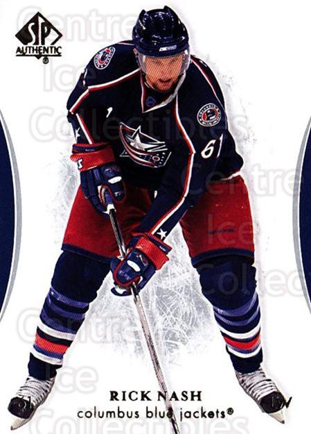 2007-08 SP Authentic #63 Rick Nash<br/>5 In Stock - $1.00 each - <a href=https://centericecollectibles.foxycart.com/cart?name=2007-08%20SP%20Authentic%20%2363%20Rick%20Nash...&quantity_max=5&price=$1.00&code=135693 class=foxycart> Buy it now! </a>