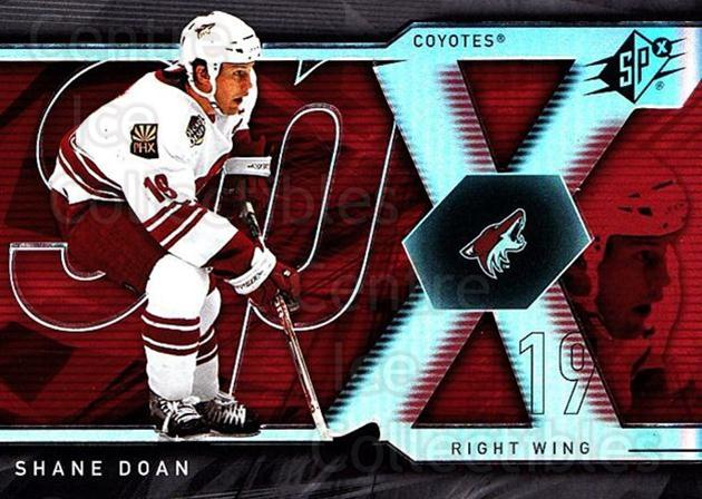 2007-08 SPx #11 Shane Doan<br/>5 In Stock - $1.00 each - <a href=https://centericecollectibles.foxycart.com/cart?name=2007-08%20SPx%20%2311%20Shane%20Doan...&quantity_max=5&price=$1.00&code=135801 class=foxycart> Buy it now! </a>