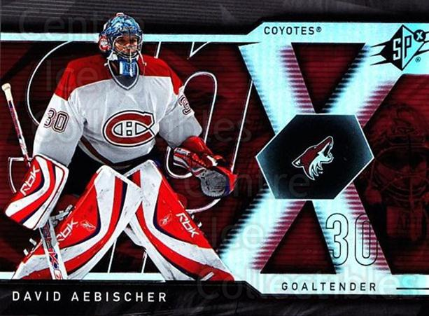 2007-08 SPx #13 David Aebischer<br/>4 In Stock - $1.00 each - <a href=https://centericecollectibles.foxycart.com/cart?name=2007-08%20SPx%20%2313%20David%20Aebischer...&quantity_max=4&price=$1.00&code=135803 class=foxycart> Buy it now! </a>